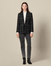 Kostümjacke aus Tweed : Blousons & Jacken farbe Schwarz