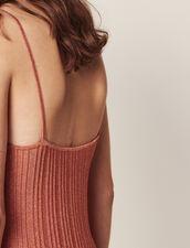 Langes Strickkleid Mit Schmalen Trägern : Kleider farbe Pêche