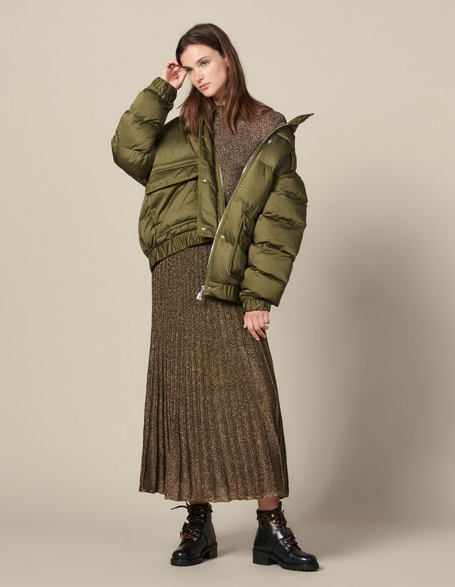 Gesteppte Oversize-Daunenjacke : Mäntel farbe Khaki