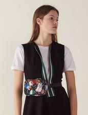Kurzarm-Kleid Mit Reißverschluss : Kleider farbe Schwarz