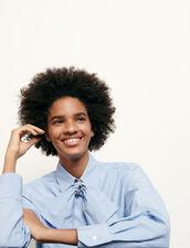 Kurze Bluse mit abnehmbarer Schleife : Tops & Hemden farbe Ciel