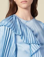 Plissiertes Top mit langen Ärmeln : Tops & Hemden farbe Ciel