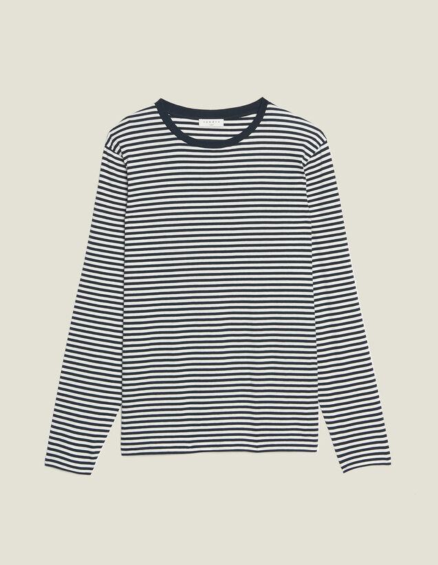 Langarm-T-Shirt Im Matrosenstil : T-Shirts & Polos farbe Marine/Weiss