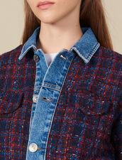Tweed-Blouson : Blousons & Jacken farbe Bordeaux