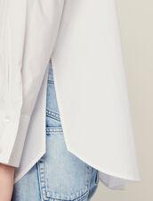 Popeline-Hemdbluse Mit Hohen Manschetten : null farbe Weiß