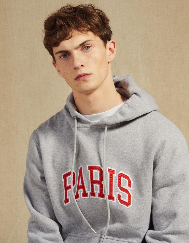 Hoodie Mit Schriftzug : Sweatshirts farbe Grau Meliert