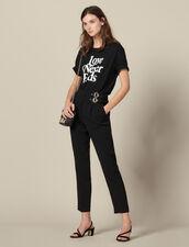 Hose mit hoher Taille und Schnallen : LastChance-ES-F40 farbe Schwarz