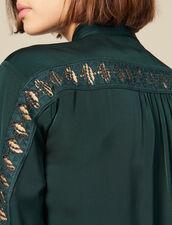 Hemdbluse Mit Spitzeneinsatz : Tops & Hemden farbe Grün
