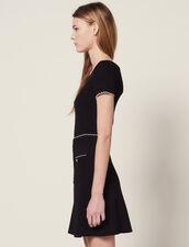 Strickrock Mit Zierknöpfen : Röcke & Shorts farbe Schwarz