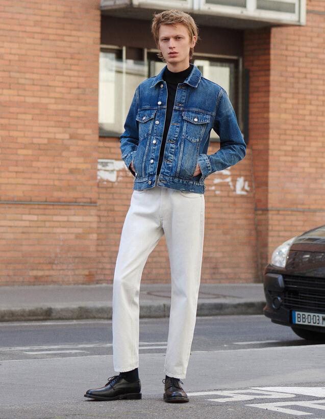Weiße Jeans Mit Geradem Schnitt : LastChance-FR-H50 farbe Weiß