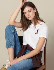 T-Shirt Mit Aufgesticktem Patch : FBlackFriday-FR-FSelection-40 farbe Weiß