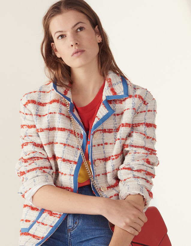 Tweed-Blazer : Blousons & Jacken farbe Bunt