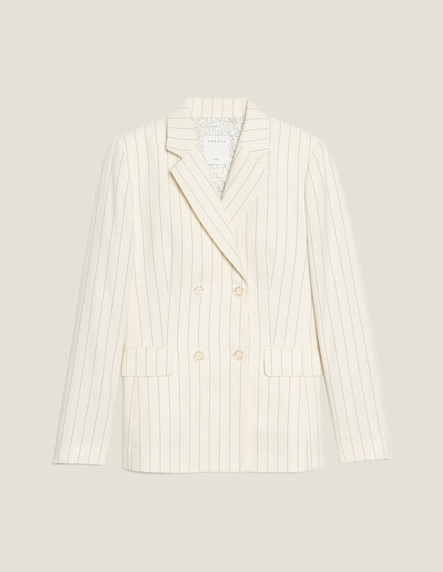 Kostümjacke Mit Schmalen Streifen : Blousons & Jacken farbe Weiß