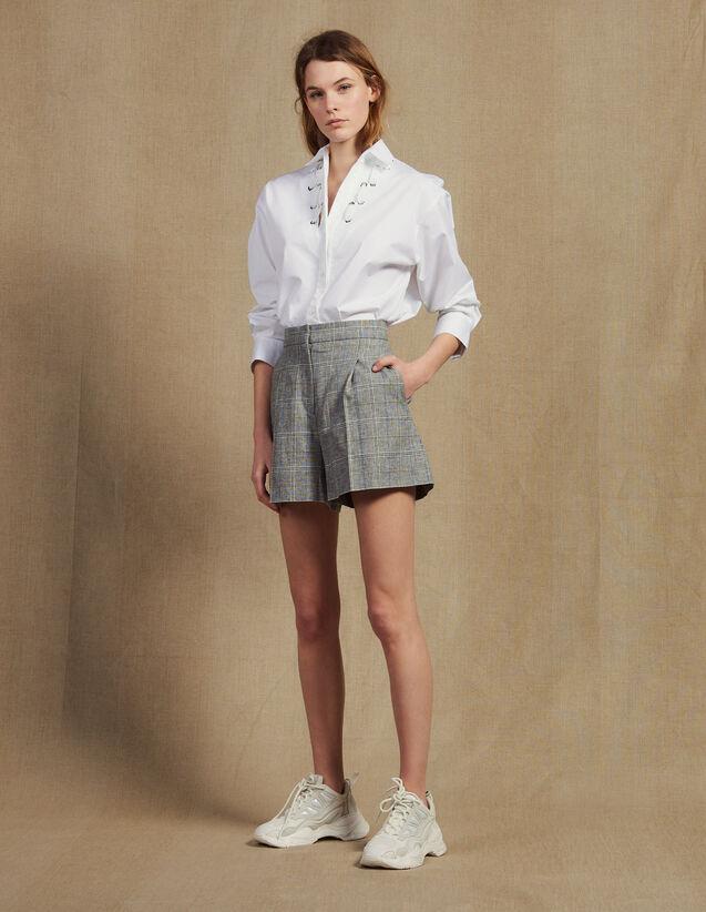 Karierte Shorts : Röcke & Shorts farbe Grau