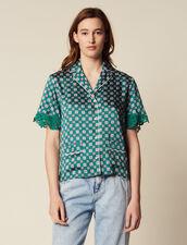 Hemdbluse Im Pyjamastil : Bedrucktes Hemd farbe Grün