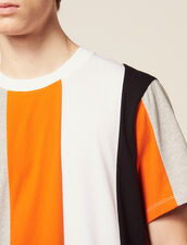 T-Shirt Mit Breiten Streifen : T-Shirts & Polos farbe Blau