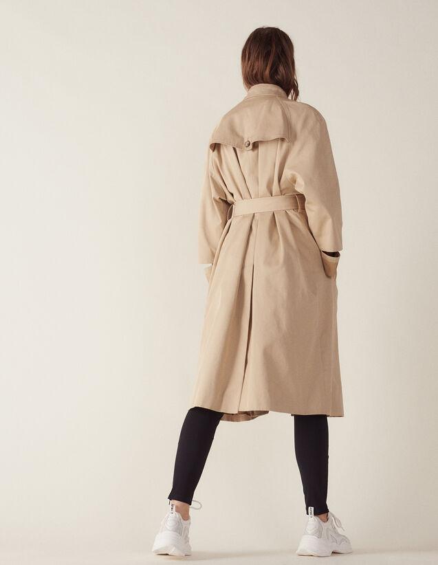 Langer Mantel Im Trenchcoat-Stil : Mäntel farbe Beige