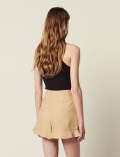 Kurze Shorts Mit Volants : LastChance-CH-FSelection-Pap&Access farbe Beige