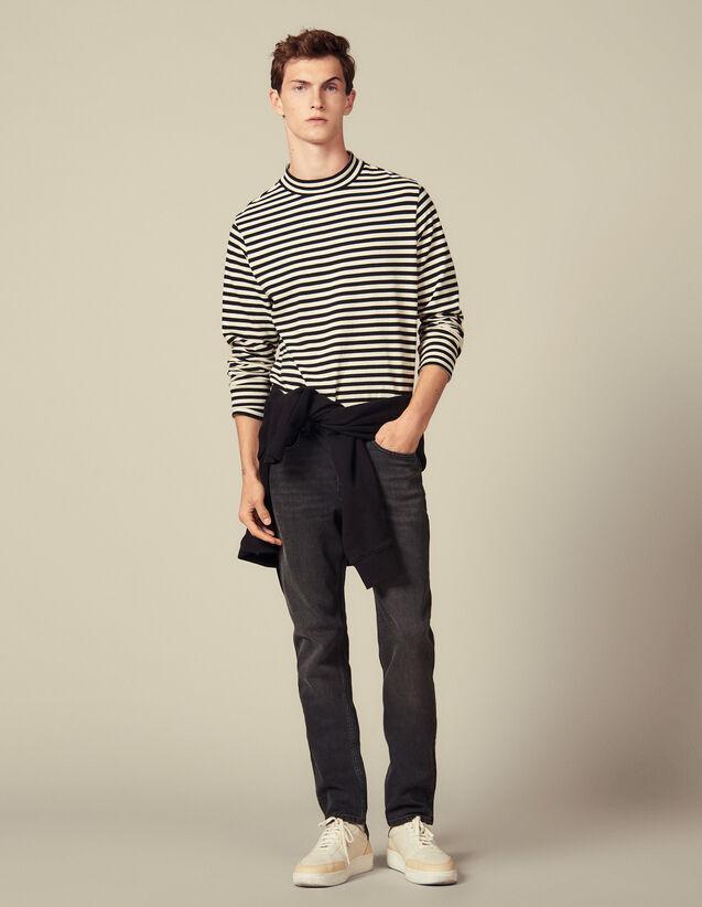 Verwaschene Slim-Jeans Mit Stretch : Jeans farbe Black - Denim