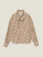 Fließendes Top mit Lavallière-Kragen : Tops & Hemden farbe Beige