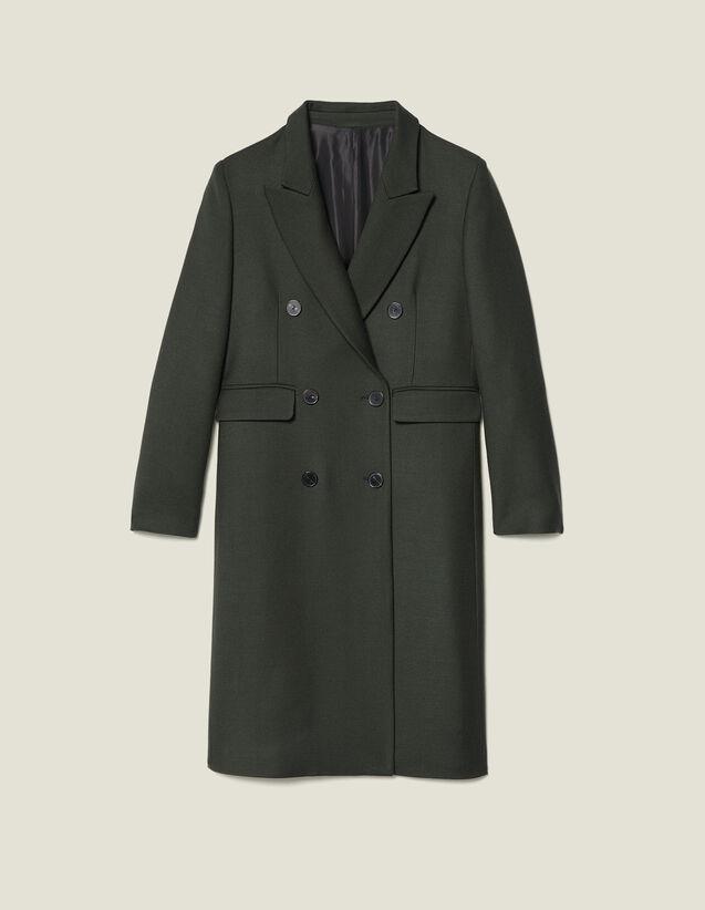 Langer Wollmantel : Mäntel farbe Khaki