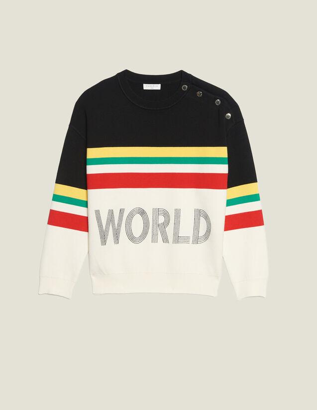 Pullover Mit Streifen Und Schriftzug : LastChance-FR-FSelection farbe Schwarz