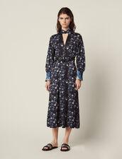 Midi-Kleid Mit Print-Mix Und Stehkragen : LastChance-CH-FSelection-Pap&Access farbe Blau
