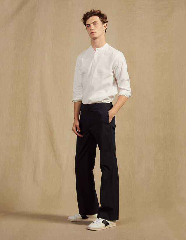 Hose Mit Elastischem Bund Aus Baumwolle : Hosen & Shorts farbe Marine
