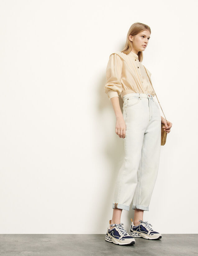 Ice Washed Jeans : Jeans farbe Bleached - Denim