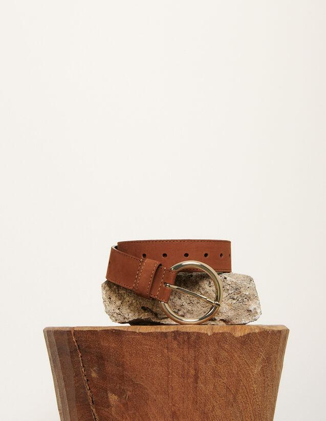 Gürtel aus Leder : Die ganze Winterkollektion farbe Dunkel-Marine