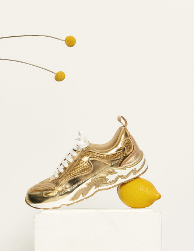 Flame Sneaker : Schuhe farbe Full Gold
