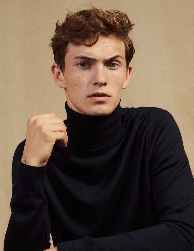 Rollkragenpullover Aus Wolle : Pullovers & Cardigans farbe Marine