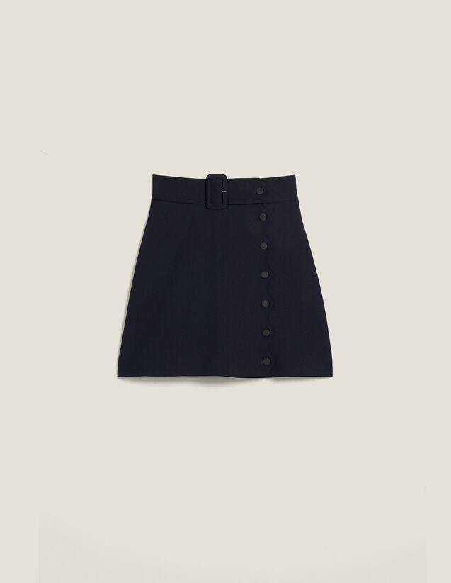 Kurzer Rock Mit Trapez-Schnitt : Röcke & Shorts farbe Marine