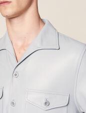 Kurzärmeliges Hemd Aus Lammleder : LastChance-FR-H50 farbe Sky Blue