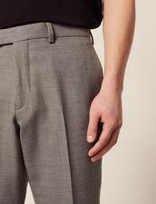 Anzughose Aus Wolle : LastChance-FR-H40 farbe Hellgrau