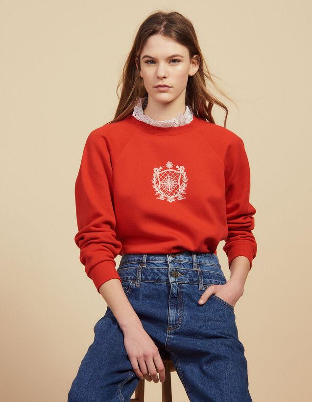 Sweatshirt Mit Abnehmbarem Kragen : Sweatshirts farbe Rot