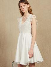 Kurzes Skater-Kleid : Kleider farbe Weiß