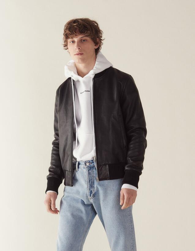 Blouson Aus Leder Mit Reißverschluss : Blousons & Jacken farbe Schwarz