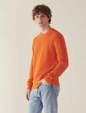 Pullover Aus Relief-Baumwollstrick : Sélection Last Chance farbe Weiß