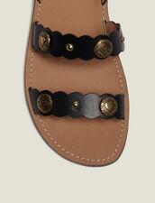 Flache Sandalen Mit Dekorativen Nieten : null farbe Schwarz