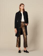 Ausgestellte Kostümhose Aus Brokat : Hosen farbe Gold