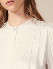 Bluse mit Flachfalten : LastChance-ES-F40 farbe Ecru