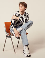 Matrosen-Pulli, Baumwolle Und Kaschmir : Pullovers & Cardigans farbe Ecru