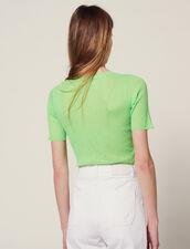 Fluo-T-Shirt Aus Strick : LastChance-FR-FSelection farbe Vert fluo