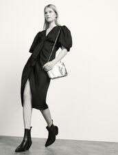 Leinenkleid zum Binden : Kleider farbe Schwarz