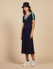 Langes Kleid Aus Sportswear-Strick : null farbe Marine