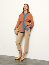 Oversize-Cardigan mit Jeanseinsätzen : Pullover & Cardigans farbe Brown