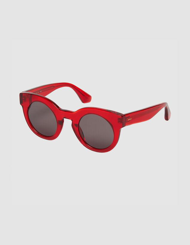 Runde Oversize-Sonnenbrille : Sonnenbrille farbe Rot