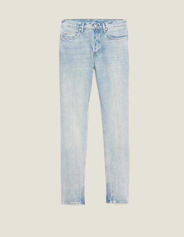 Jeans Hell Verwaschen – Gerader Schnitt : Jeans farbe Blue Vintage - Denim