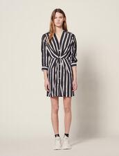 Kurzes Streifen-Kleid Mit V-Ausschnitt : LastChance-CH-FSelection-Pap&Access farbe Schwarz